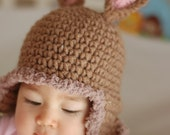 Newborn Bunny Rabbit Hat  Available size up to 3 Months babies