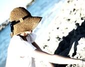 Adjustable Crochet Summer Straw Sun Hat