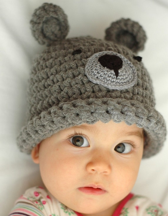 Newborn Baby Bear Beanie Available size up to 3 Months