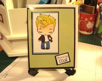 PRETTY COOL boy greeting card