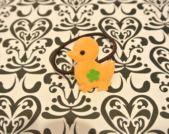 Yellow ducky hair tie