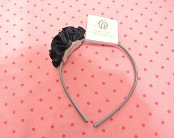 Navy blue flower headband