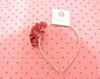 Burgandy red flower headband