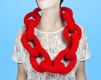 LAST CHANCE Bright Red Giant Bling Bling Chain