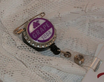 Grape Soda Badge Reel