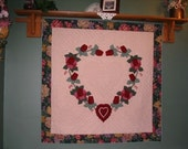 Heart of Roses Wallhanging