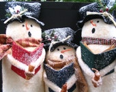 Caroling Snowmen - MADE TO ORDER