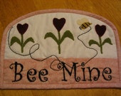 Valentine Bee Mine Mug Mat