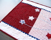 Quilted Fireworks Picnic Table Runner