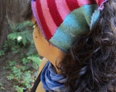 SaLE- was 22 now 11- PiXiE Wool Dready Tube - recyceld wool sweater headband