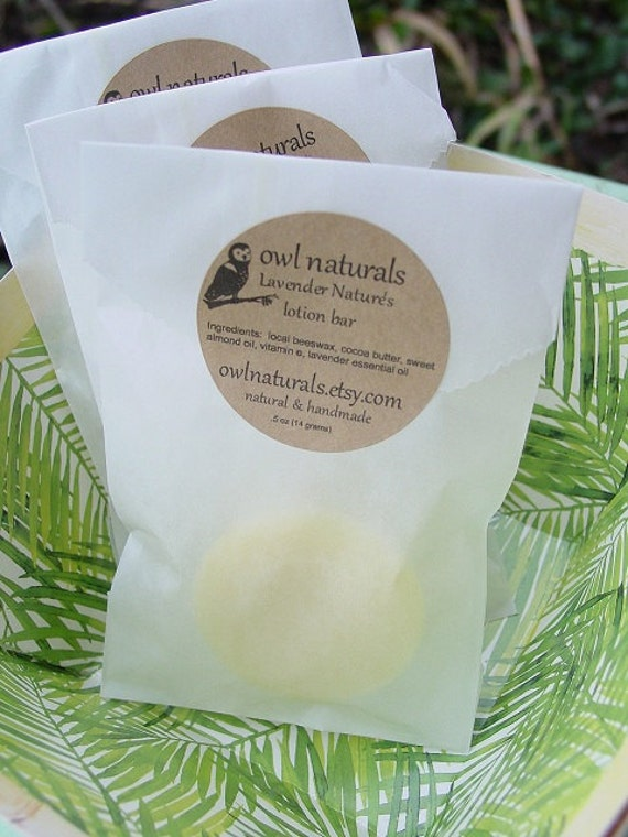 Peppermint Nature's lotion bar-all natural with local beeswax