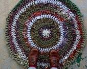 Forest Floor Rustic Rag Rug