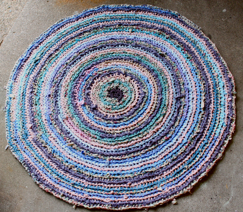 Purple Pink And Blue Rag Rug