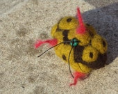 sea creature - colorful - felt brooch FREE SHIPPING