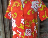 Gorgeous Vintage Pacific Isle Hawaiian Shirt Blouse
