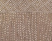 Vintage Venice lace ivory fabric sewing trim for bridal, couture, linen, decor 1 yard