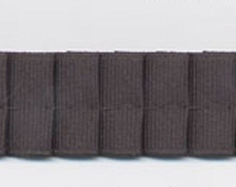 Pleated Grosgrain ribbon in black for sewing, altered couture, evening wear and decor 12 yards