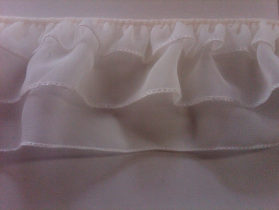 On sale ruffled ivory chiffon sewing fabric trim for bridal for Sewing material for sale