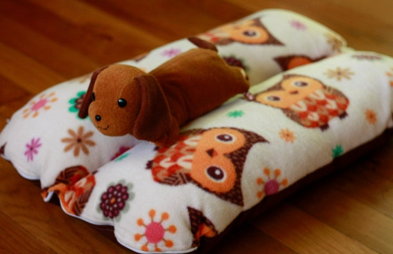 Cute Kawaii Owls Bunbed Dog Bed, Dachshund Dog Bed, Snuggle Bed - The Ominous Cloud
