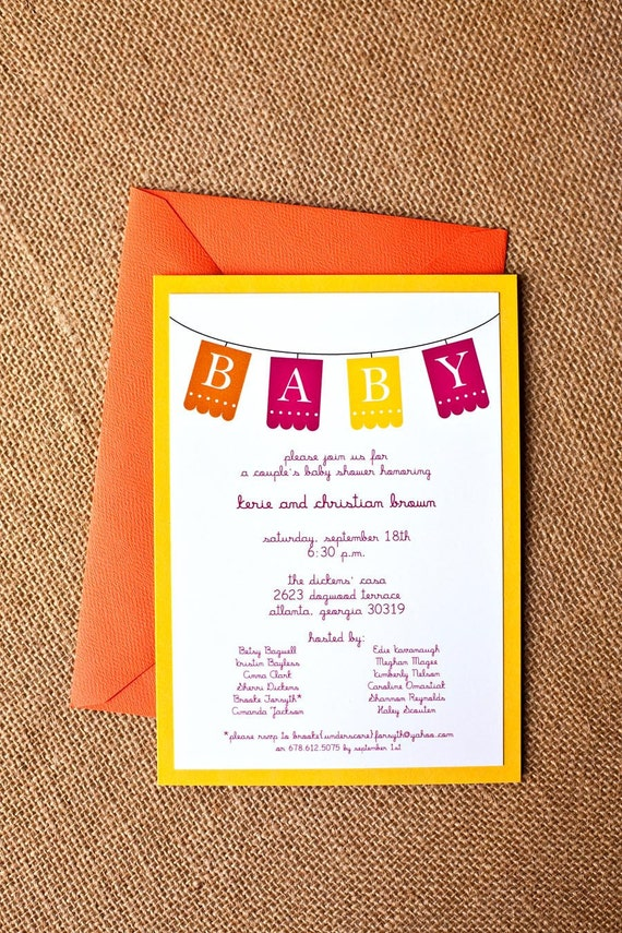 baby shower invitation - mexican theme