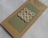 Antique Mother of Pearl MOP Buttons on Original Card