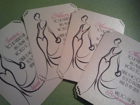 Caring- Will You Be My Bridesmaid Cards