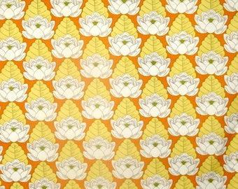 SALE REDUCED   Amy Butler  Fabric  By The Yard Lotus Pond Tangerine One Yard