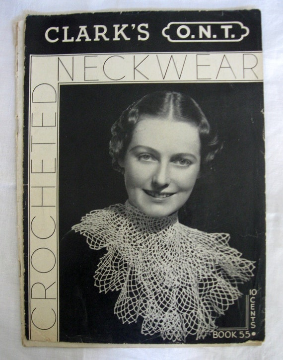 Vintage Pattern Book Clark's CROCHETED NECKWEAR 1935