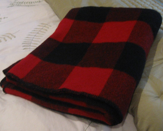 Red Amp Black Buffalo Check Wool Blanket 56 X 71