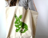 Oversized Reusable Recycled Cotton Grocery Shopper Tote