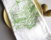 Screen Printed Organic Cotton Deli Sandwich Flour Sack Towel - Awesome Tea Towel for Dishes