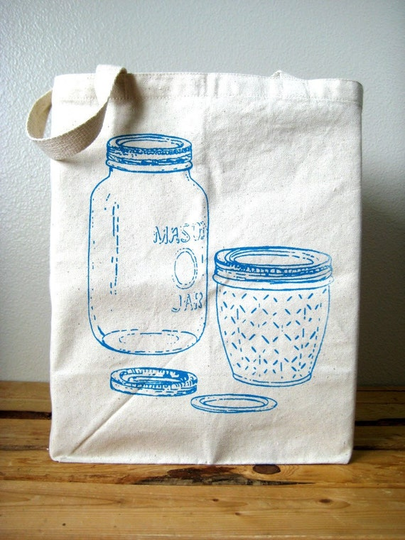 Over-sized Reusable Recycled Cotton Grocery Shopper Tote