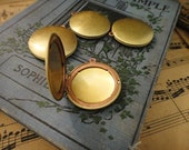 30Pcs Vintage Raw Brass Simple Round Locket Charms-32mm
