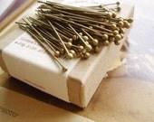 100pcs antique brass ballpins