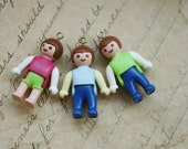 2pcs Mini Plastic  Doll Charms