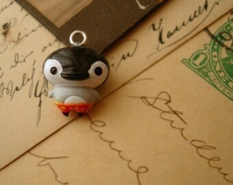 4 Pcs Black Penguin Charms