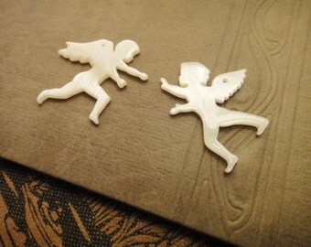 2pcs angel shell pendants