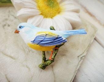 2Pcs Handpainted Colorful Birds B