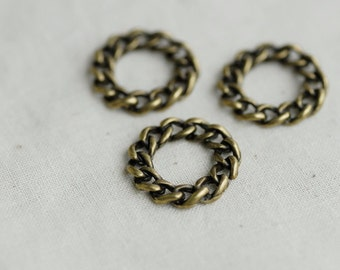 6pcs chain circles