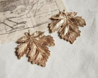 30Pcs Large Raw Brass Leaves