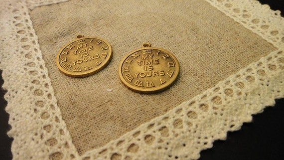 My Time Is Yours-6Pcs Solid Brass Charms