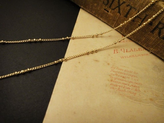 200cm Delicacy 18K Gold Plated Chain With Tiny Balls