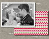 Photo Holiday Card - Set of 50 Cards - Simple and Sweet by Abigail Christine Design