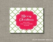 Holiday Sticker or Gift Tag - Set of 24 - Personalized Moroccan Merriment - by Flair Designery