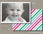 Photo Holiday Card - Set of 24 - Be Merry by Abigail Christine Design