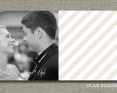 Simply Lovely - Printable Wedding Photo Thank You Card