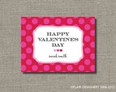 Polka Dotted Valentine Sticker or Gift Tag - Set of 24 by Flair Designery