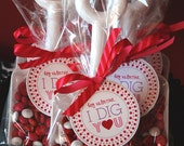 Custom Listing for Alisa - Hey Valentine, I Dig You Shovel Set - Valentine's Day Label, Bag and Tag by Abigail Christine Design