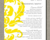 Set of 50 Menus for Weddings, Events, and More - Simple Elegance Collection - by Abigail Christine Design