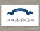 Wedding Banner Place Card - Set of 100 - Any Color, for Weddings, Parties, Events and more by Abigail Christine Design